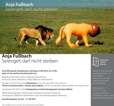 Anja Fussbach: Serengeti darf nicht sterben (Serengeti mustn't die)